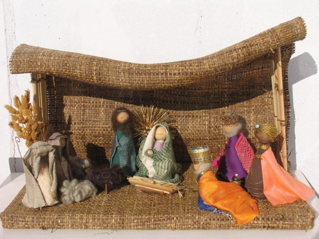 Рождественский вертеп своими руками из ткани
