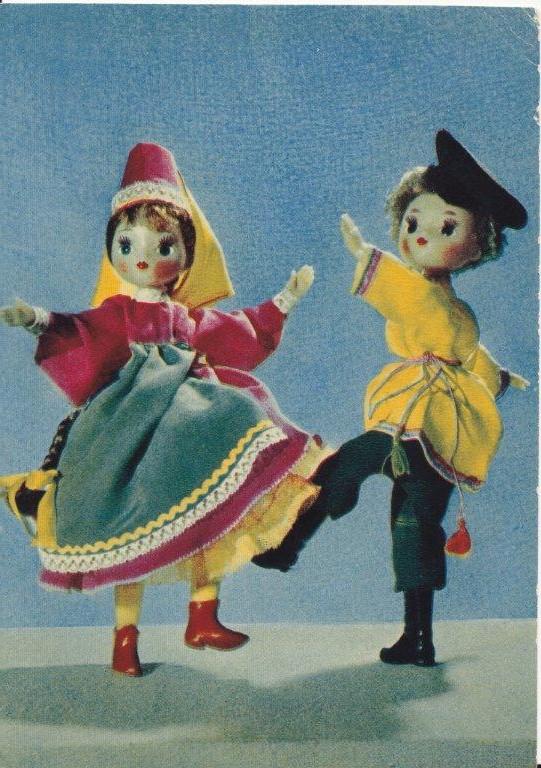 Открытки с куклами советские, лет девочке